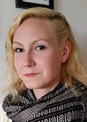 Elaine Boström, spelar Tranan a.k.a. Ayane Yi, ståthållare i Uulzvar.